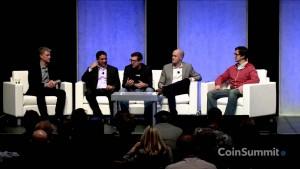 Quelques acteurs fameux de l'écosystème Bitcoin : Brian Armstrong, Coinbase, Nic Cary, Blockchain.info, Tony Gallippi, Bitpay, Chris Larsen, Ripple Labs