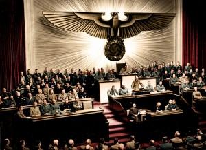 Photo d'Adolf présidant le reichstag en 1941