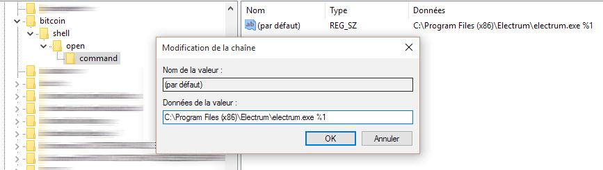 Ouvrir lien Bitcoin étape 5