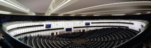 La hall Louise Weiss du Parlement Européen
