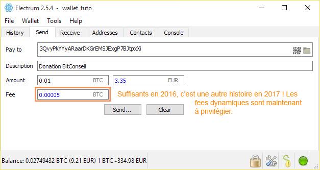 Comment envoyer des bitcoin avec Electrum Bitcoin Wallet