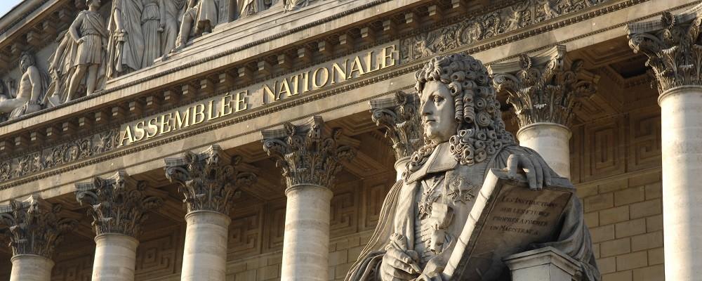Les colonnes du peristyle du Palais Bourbon, Statue d'Aguesseau