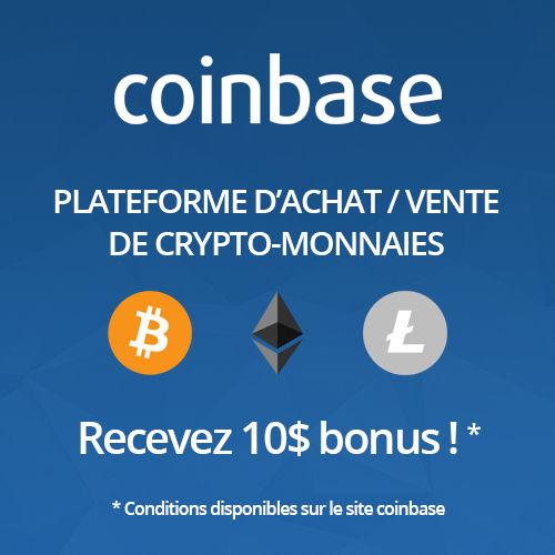 Achat / Vente de crypto-monnaies sur coinbase